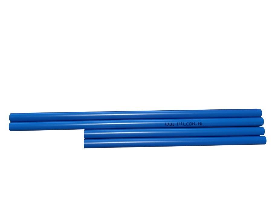 Piketbuisjes blauw 44 cm.