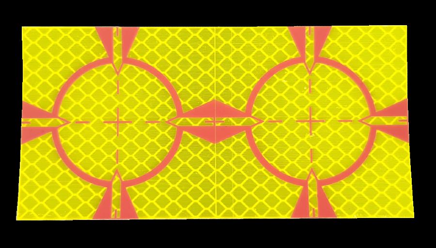 Meetsticker geel 60 x 60 mm.