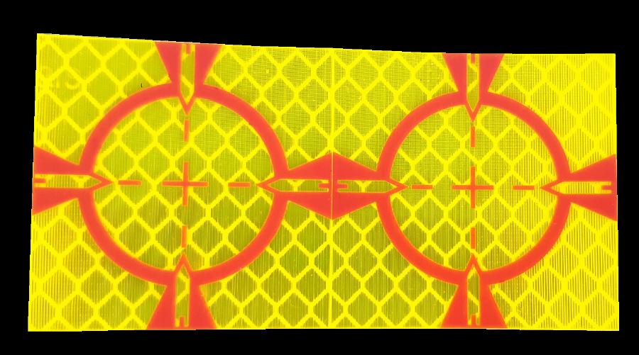 Meetstickers geel 40 x 40 mm.