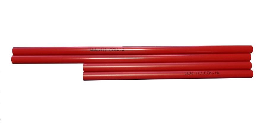 Piketbuisjes rood 44 cm.