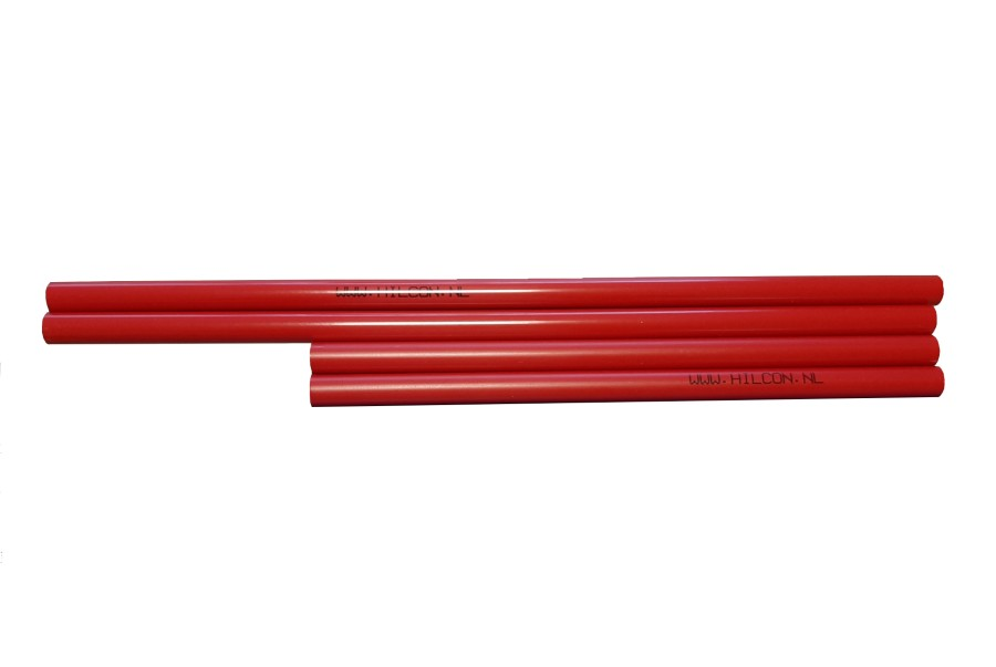 Piketbuisjes rood 31 cm.