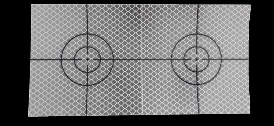 Meetsticker 100 x 100 mm.