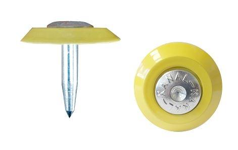 Onderlegger voor markeren van meetspijkers geel