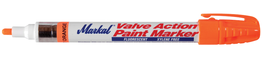 Valve Action Paint Marker Fluorescerend oranje