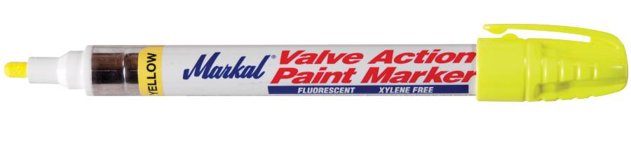 Valve Action Paint Marker Fluorescerend geel