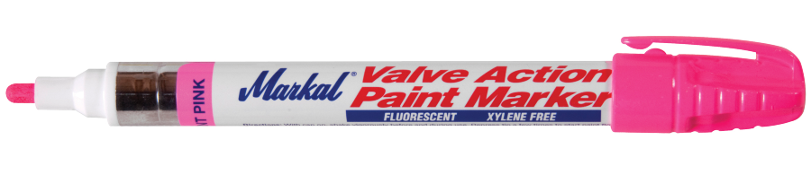 Valve Action Paint Marker Fluorescerend roze